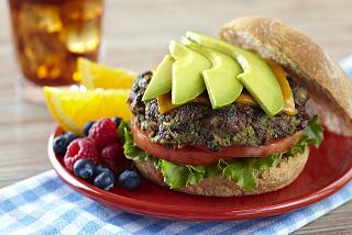 Recipe,BlackBeanBurgerwithAvocado,Meal-Makeover-Moms