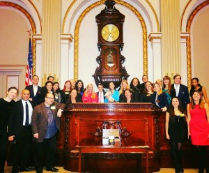 Ringing the New York Stock Exchange bell last November to commemorate WED