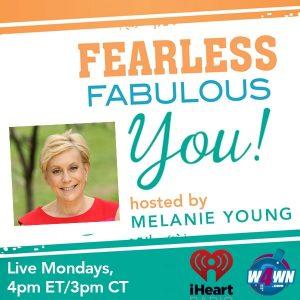 Follow melanie Young's blog at www.melanieyoung.com and connect on Twitter@mightymelanie Instagram@melaniefabulous and facebook@fearlessfabulousmelanie